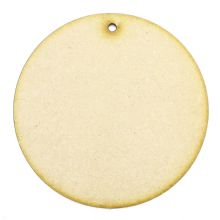 3mm MDF Wood Laser Cut Craft Shapes - Circle Tag